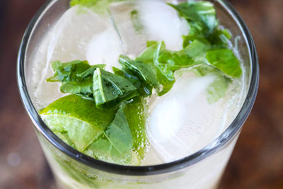Ginger Soda With Lime Leaf and Chile