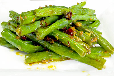 Sauteed Green Beans With Chiles & Oyster Sauce