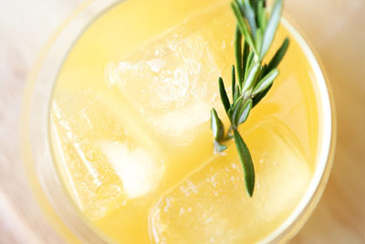 Rosemary And Ginger Whiskey Sour
