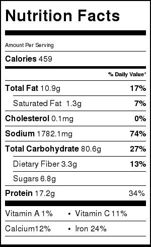 Spicy Miso Tsukemen Nutrition Facts