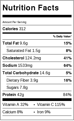 Thai Chicken Zoodles Nutrition Facts