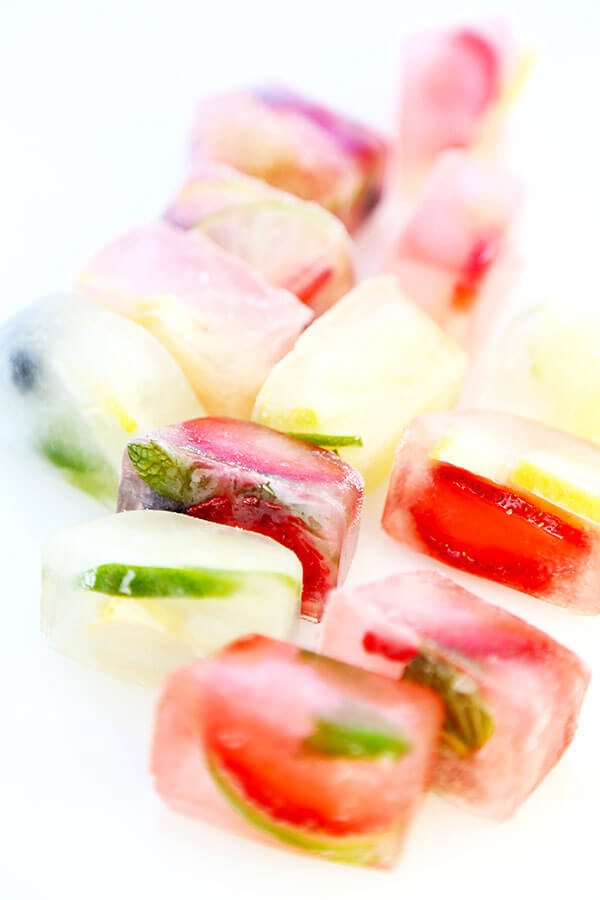 Fruity Ice Cubes - Chilly, citrus filled summer relief is the name of the game with this super simple Fruity Ice Cubes Recipe. Recipe, drinks, fruit, healthy, beverage   pickledplum.com