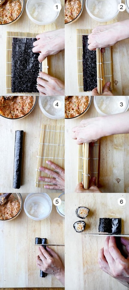 how-to-make-spicy-tuna-roll-steps-2