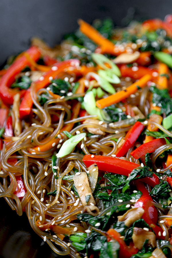 Japchae Recipe (Korean Glass Noodles) - Pickled Plum Food ...