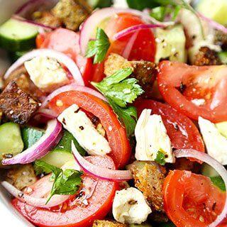 Penne With Sun Dried Tomato Pesto + Panzanella Salad (Video)