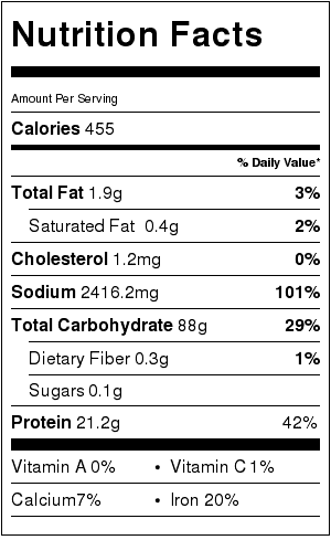 Light Udon Noodle Soup Nutrition Facts