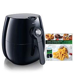 PHILIPS AIRFRYER WITH 150+ RECIPE COOKBOOK - If Orange is the New Black, then air is the new oil! Gordon Ramsay teamed up with Philips to show how you can fry more healthfully with 1 tablespoon of oil or less. That adds up to you ingesting up to 75% less fat when eating your favorite fried foods! SHOP