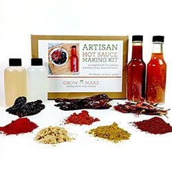 HOT SAUCE MAKING KIT - My favorite sauce of all time. I put hot sauce on just about everything and now I can make it at home! Includes Chipotle, Arbol and Guajillo Peppers. SHOP