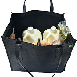 REUSABLE GROCERY BAG (TOTE) - Being healthy isn't just about eating good foods, it's also about caring for our environment. I only use grocery totes (I have 3 I carry with me everywhere I go) when I go shopping. It feels great to know I am doing my part in helping the planet stay clean. SHOP