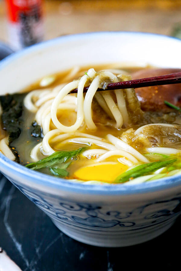 Light Udon Noodle Soup Pickled Plum Food And Drinks
