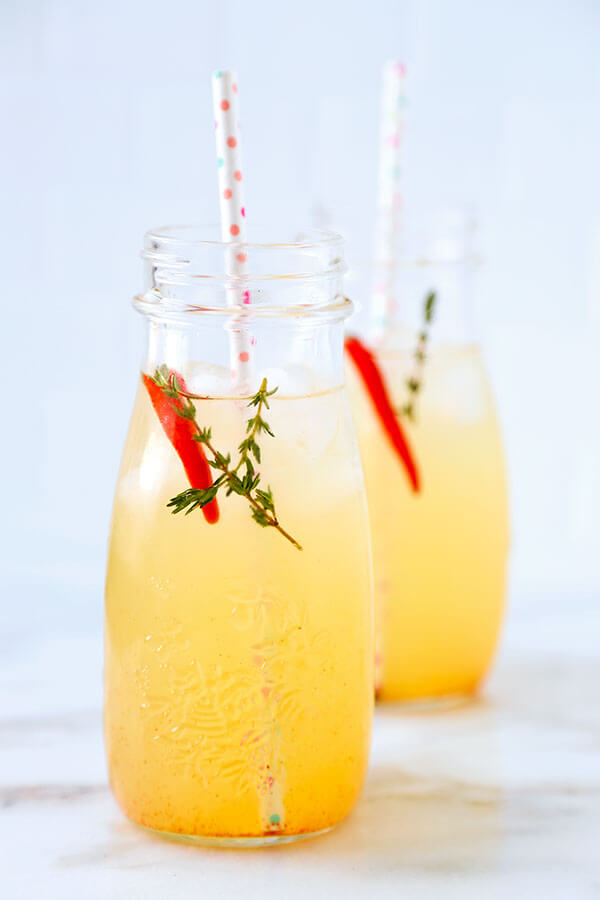 Lemon And Lime Energy Tonic - This lemon and lime energy tonic is the perfect mid afternoon pick up for a post-lunch dip! Recipe, drinks, healthy, citrus, tonic | pickledplum.com