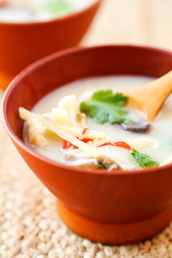 Bowl of Thai coconut soup