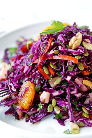 Detox Red Cabbage Slaw Pickled Plum Food And Drinks