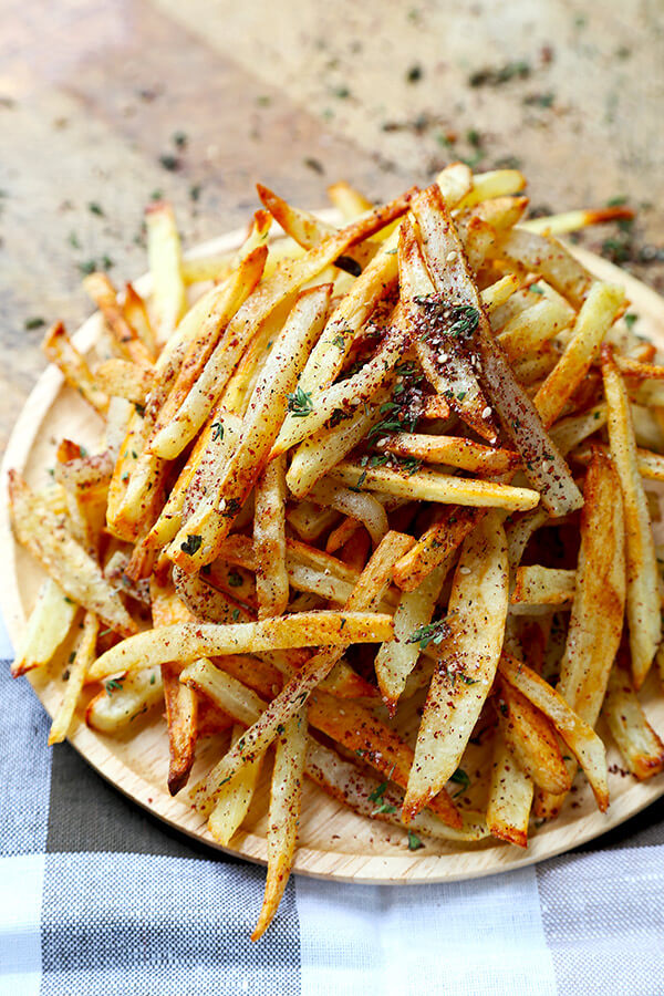 Oven Baked Za Atar Fries Pickled Plum Food And Drinks