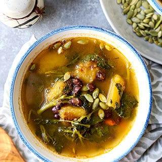 Spicy Kabocha Squash And Adzuki Bean Soup