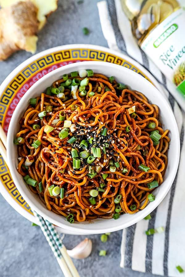 Aromatic Sour Egg Noodles Pickled Plum Food And Drinks