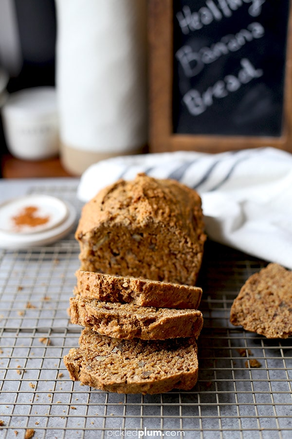 Vegan Banana Bread - plant based banana bread that's moist and just the right amount of sweetness.