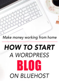 How To Start A Wordpress Blog On Bluehost - Everyone can make money blogging - I made $127,000 last year! - you just have to take the first step, which is to sign up for web hosting, to do it! In this post I show you the simple steps ( with images) of creating an account with Bluehost, find a domain name, start a blog in WordPress (for beginners) and give extra tips and tools on how to become a successful blogger. #blogging #howtostartablog #startablog #makemoneyonline | pickledplum.com