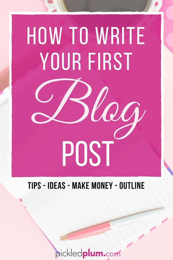 How To Write Your First Blog Post - Writing your first blog post can be a daunting task if you don't know where to start. The good news is that it doesn't have to be difficult, all you need are a few pointers to help you get started. In this post I show you how to structure your post and how to get traffic to it once it's published so you can start making money today! Tips - social media - make money. #blogging #workfromhome #blogging #makemoneyblogging | pickledplum.com