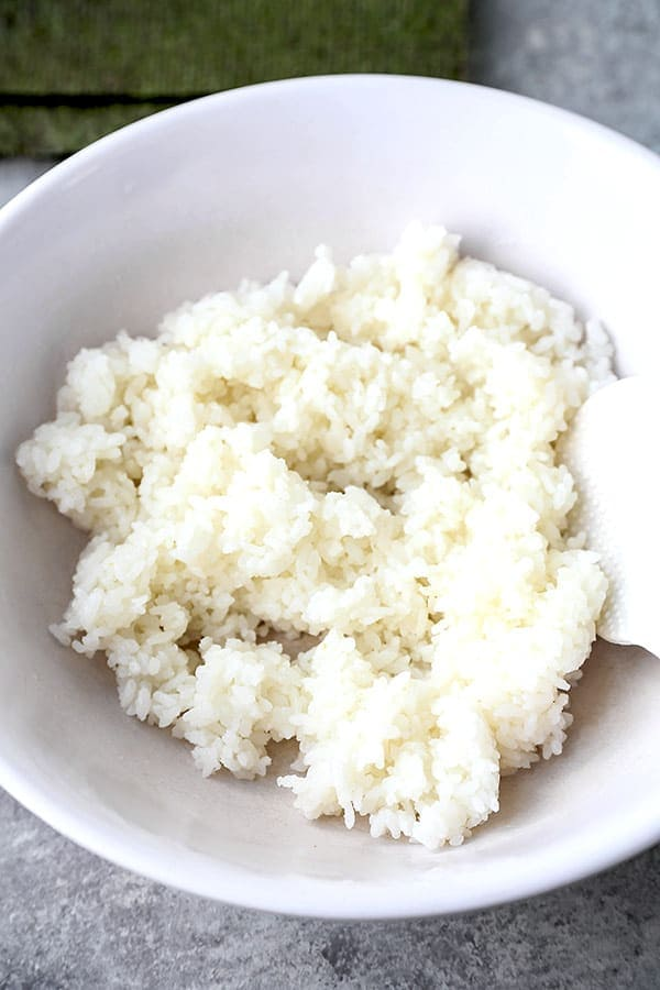 cooked japanese rice