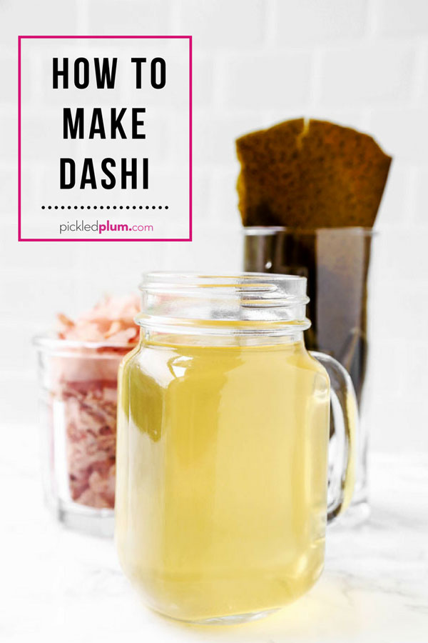 How To Make Dashi - Check out this How To Make Dashi tutorial and see how minimal effort can still yield maximum flavor. Dashi will elevate your homemade miso soup, soba and simmered dishes into the stratosphere. #japanesefood #healthyeating #soupstock #dashi | pickledplum.com