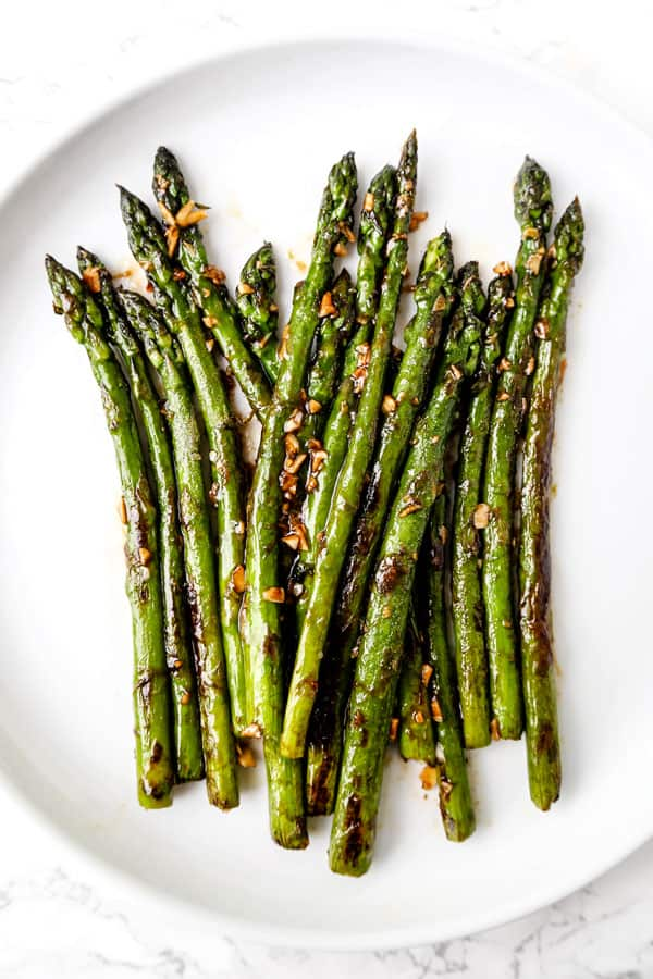 Sauteed Asparagus With Garlic And Oyster Sauce Pickled Plum Food And Drinks
