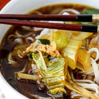 Baby Bok Choy Soup With Garlic and Ginger