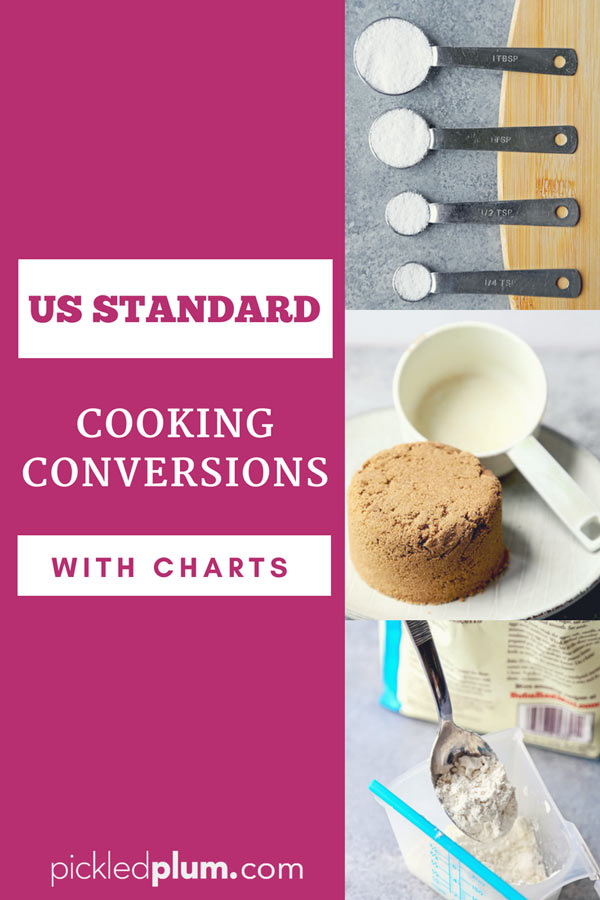 Cooking Conversions And Charts Pickled Plum Food And Drinks