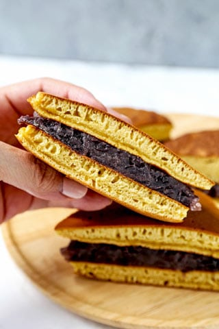 Dorayaki どら焼き Pancakes With Red Bean Paste Pickled Plum Easy Asian Recipes