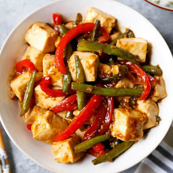 Honey Ginger Tofu Stir Fry Pickled Plum Food And Drinks