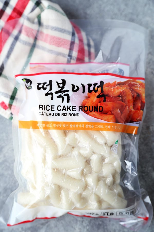 Korean rice cakes called tteokbokki. Just like mochi rice cakes.