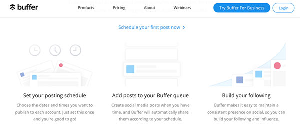 Buffer to organize and schedule blog posts