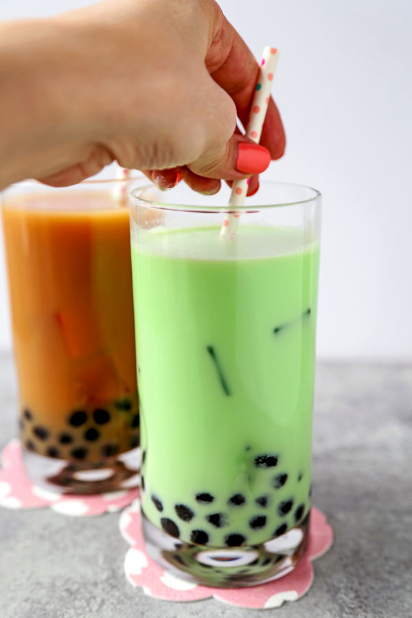 Learn How To Make Bubble Tea at home for a fraction of the cost of the boba milk tea shop! Easy recipes for homemade bubble tea and pre-mix powder #diy #boba #vegan #summerdrink | pickledplum.com