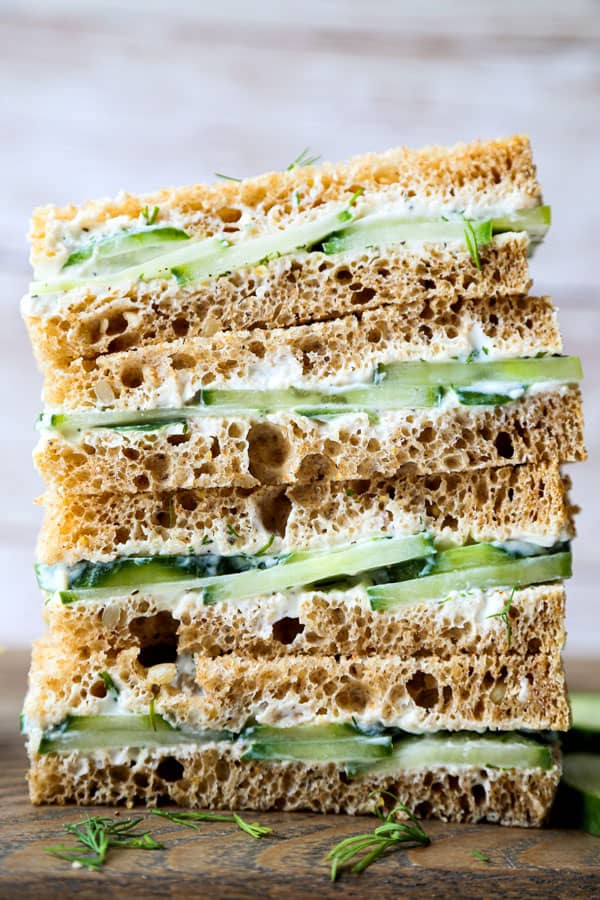 homemade cucumber sandwiches