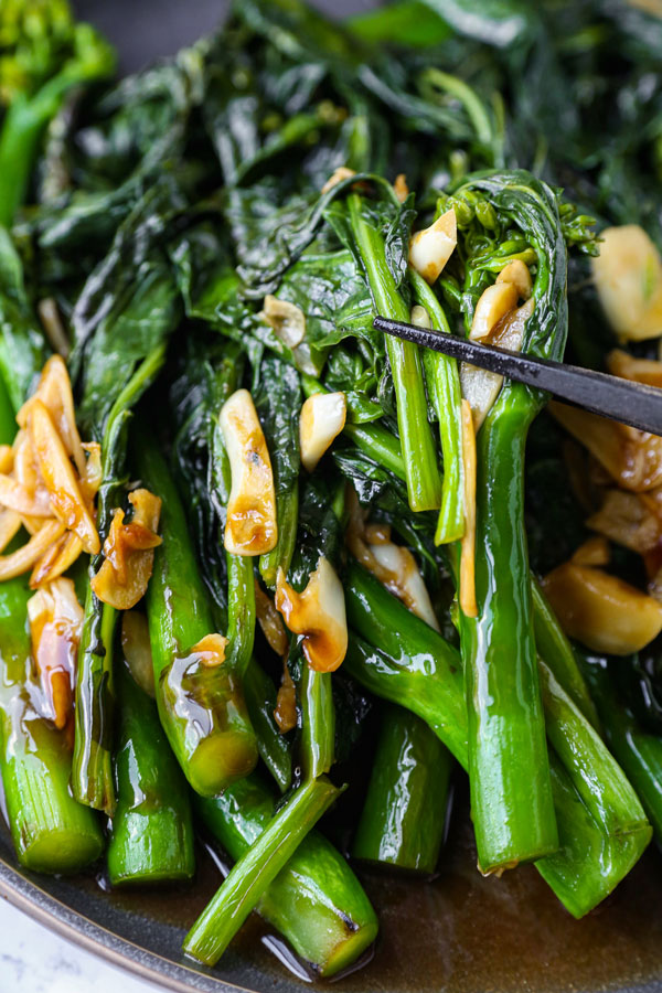 Chinese broccoli with garlic and oyster sauce
