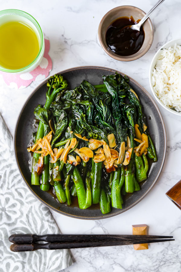 Chinese broccoli with Garlic Sauce