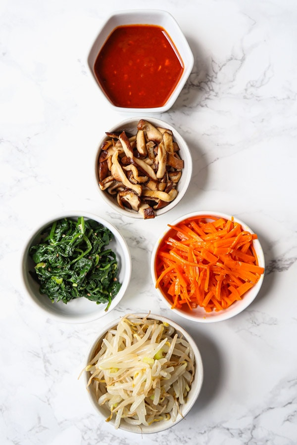 ingredients for bibimbap recipe | pickledplum.com
