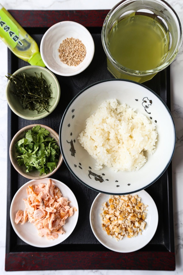 ingredients for ochazuke