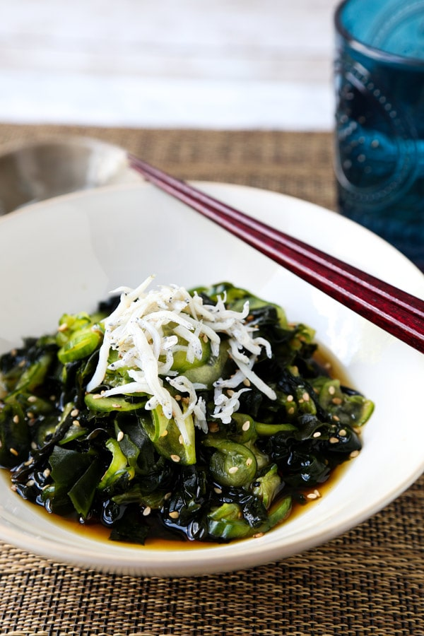 Japanese Cucumber Salad with Shirasu