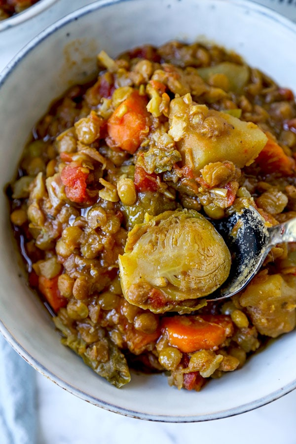 Hearty Lentil Stew Recipe | pickledplum.com