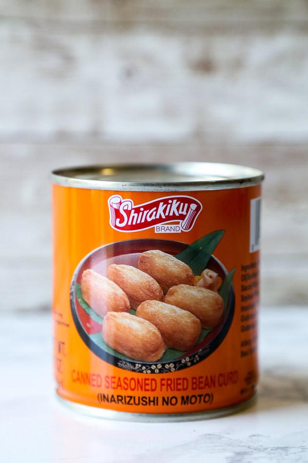 Inarizushi no moto - fried bean curd sushi | pickledplum.com