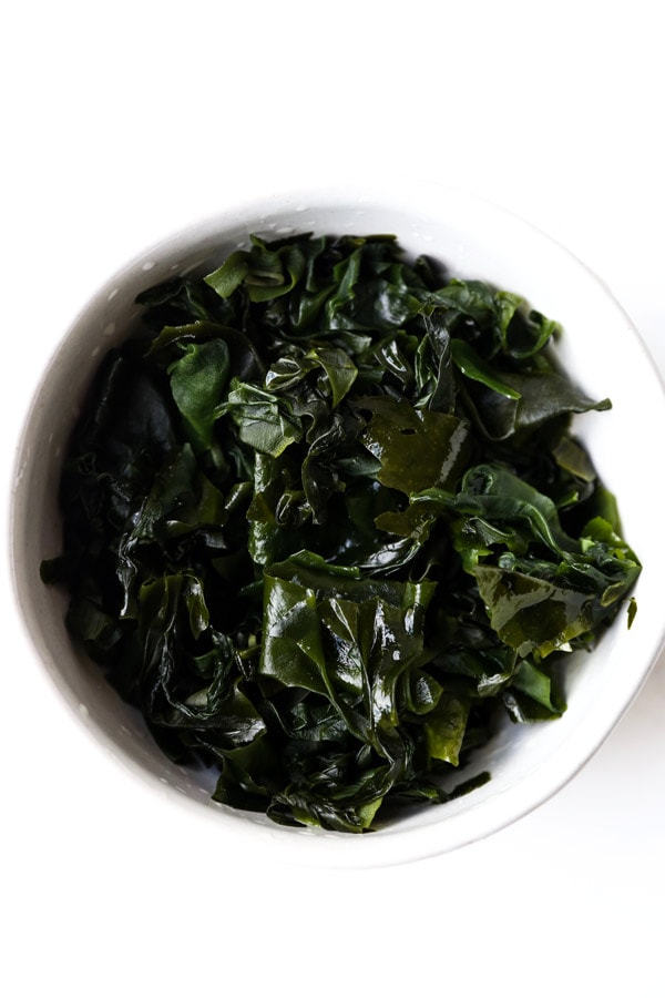 reconstructed wakame seaweed