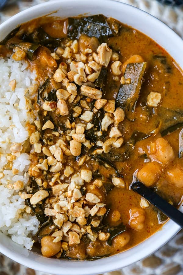 bowl of African vegetarian stew | pickledplum.com