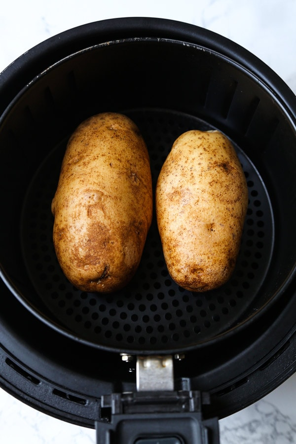 Russet potatoes in air fryer