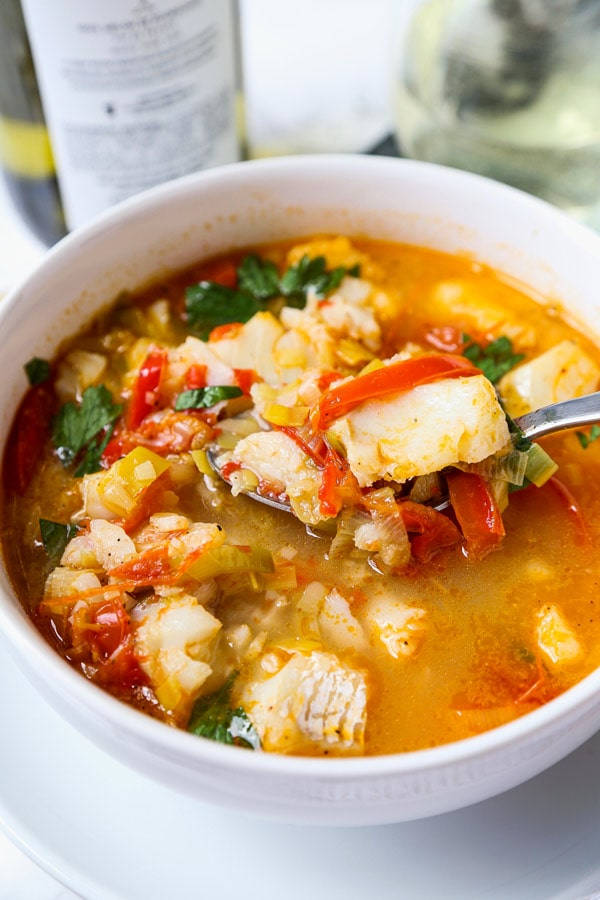 bowl of fish stew | pickledplum.com