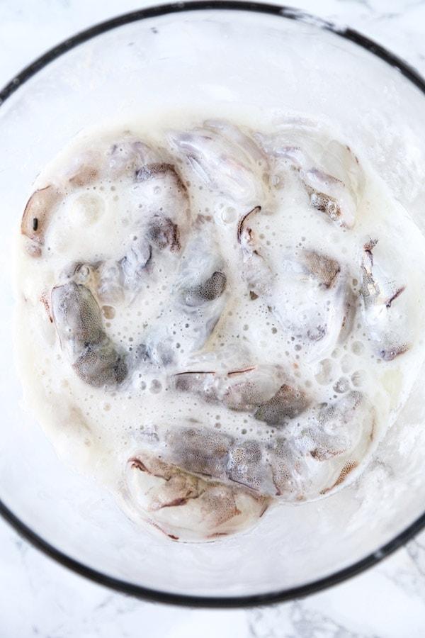 shrimp in velveting mix