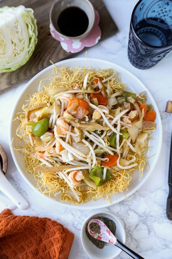 Easy Cantonese Style Chow Mein Sara Udon Pickled Plum Food And Drinks