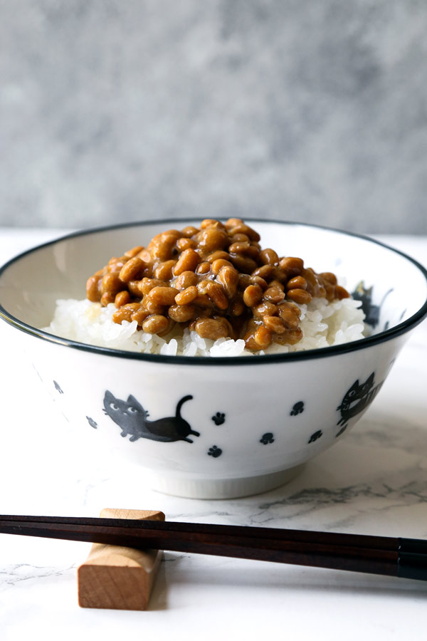 bowl of natto and rice | pickledplum.com