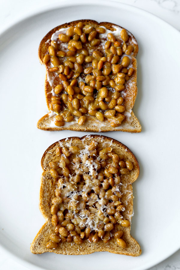 natto toast | pickledplum.com