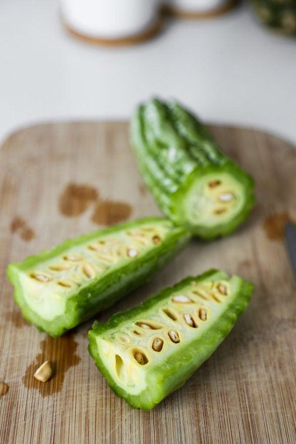 sliced bitter melon